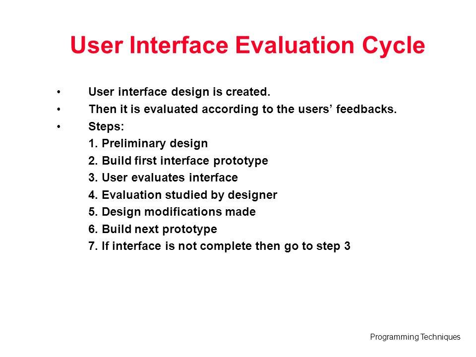 3 User Interface Design Techniques: Programming Techniques Lecture 11 User Interface Design Based on rh:slideplayer.com,Design