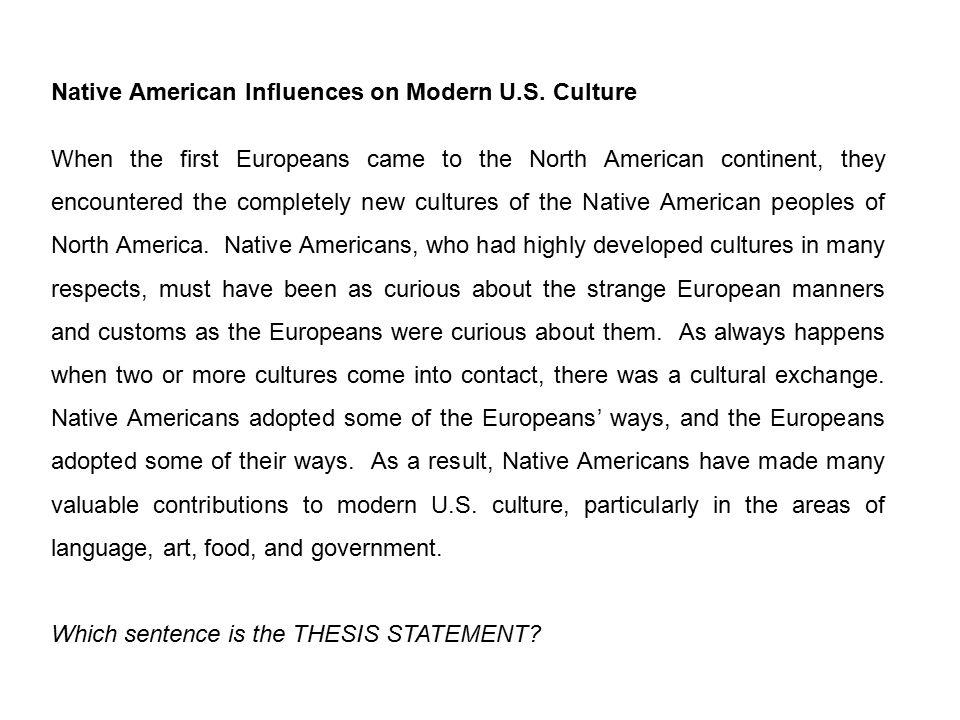 Native american culture essay free
