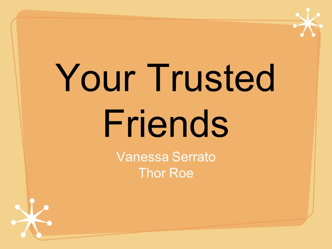 your trusted friends eric schlosser