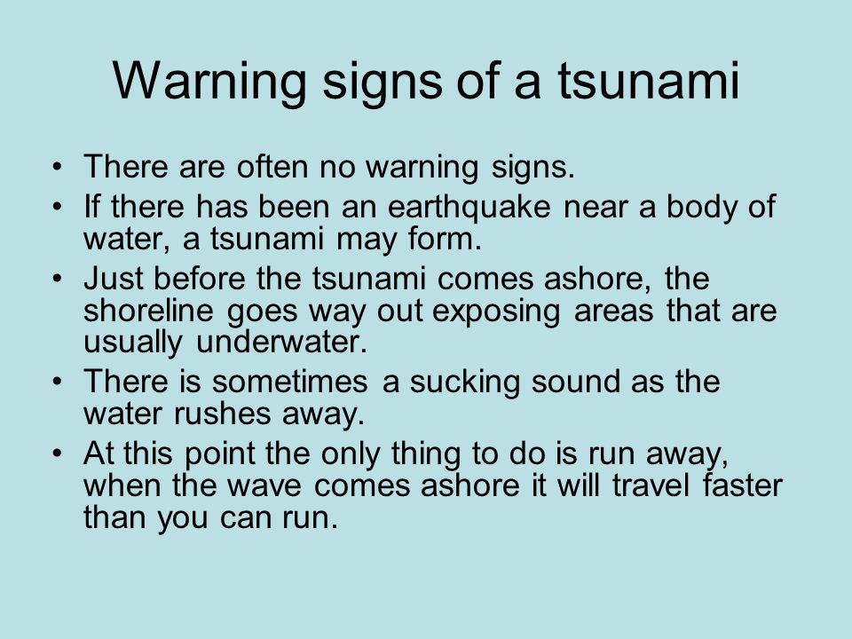 What To Do Before A Tsunami