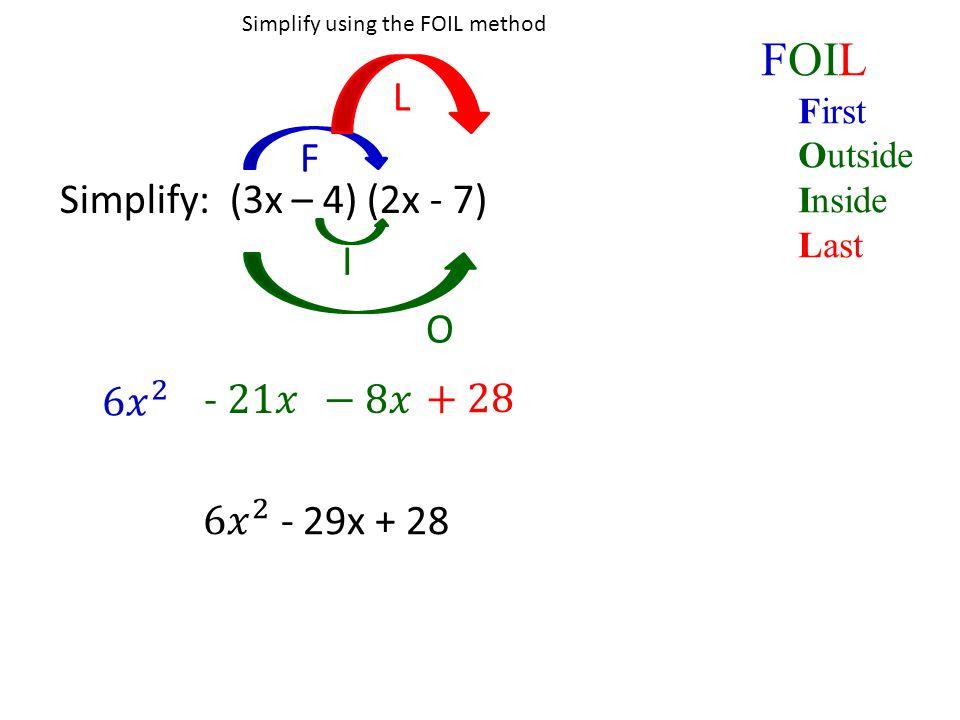 Foil box method worksheet