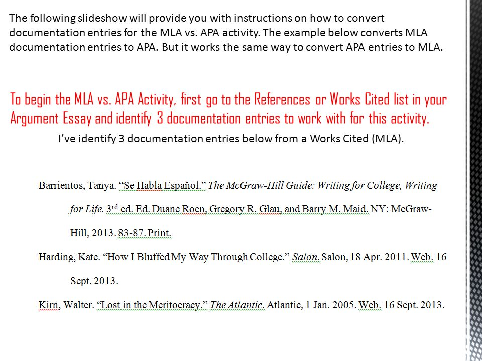 documented essay mla The documented essay/research paper mla tutorial apa tutorial the rockowitz writing center is located on the 7th floor of the library in the silverstein.