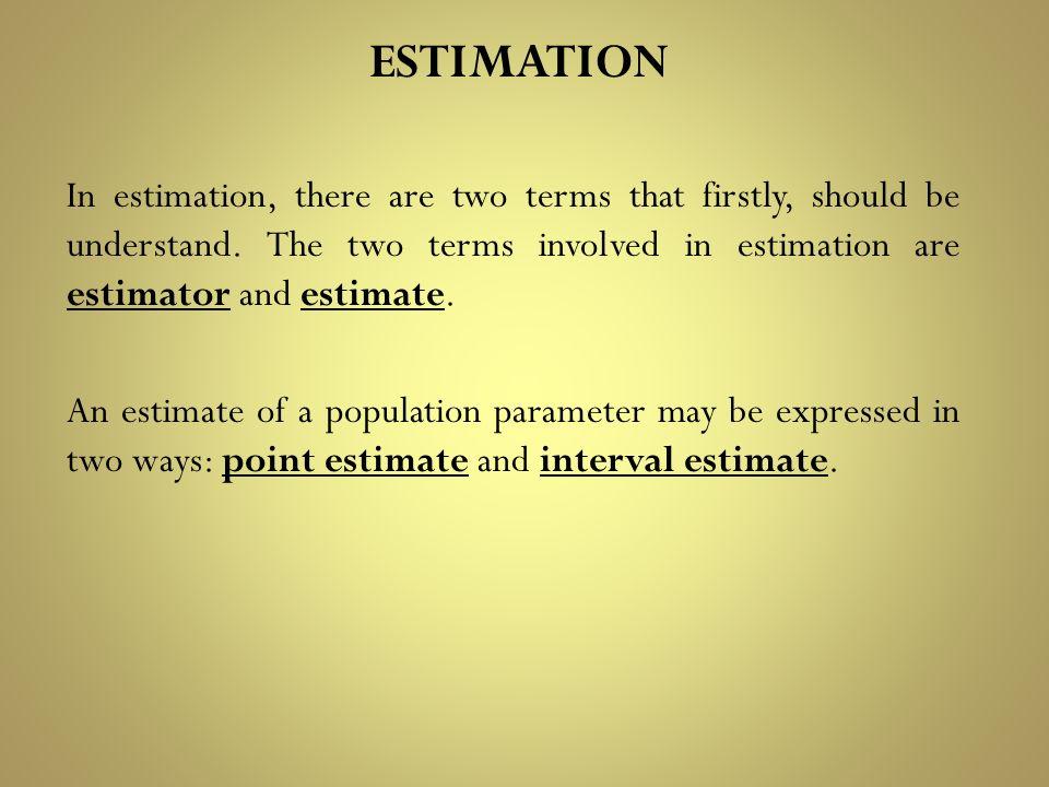 estimate terms