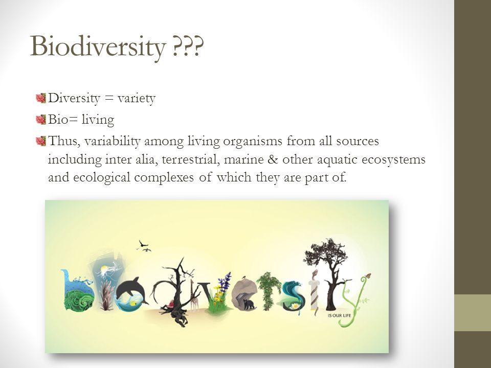 Biodiversity .