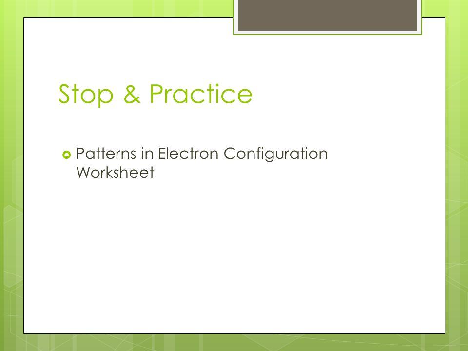 Electron configuration practice worksheet part b