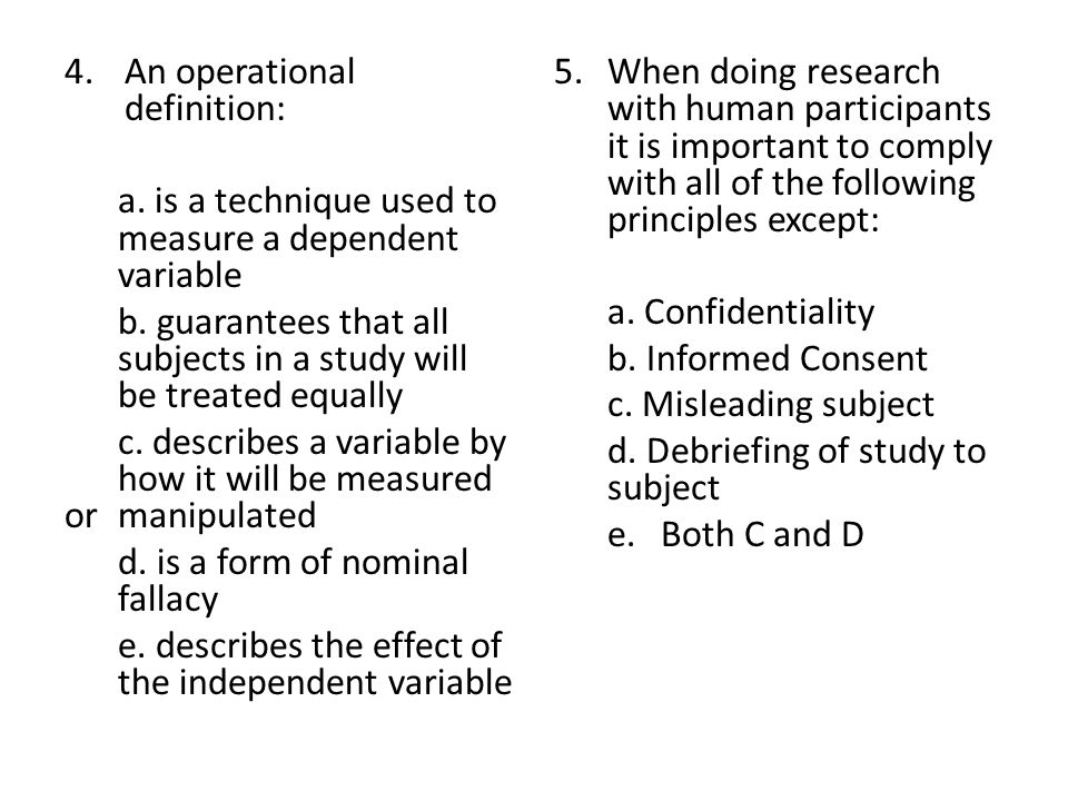where do operational definitions go in a research paper Sample apa paper 4 definitions of major research to be presented so that the reader understands what work occurred, the specific predictions (operational.