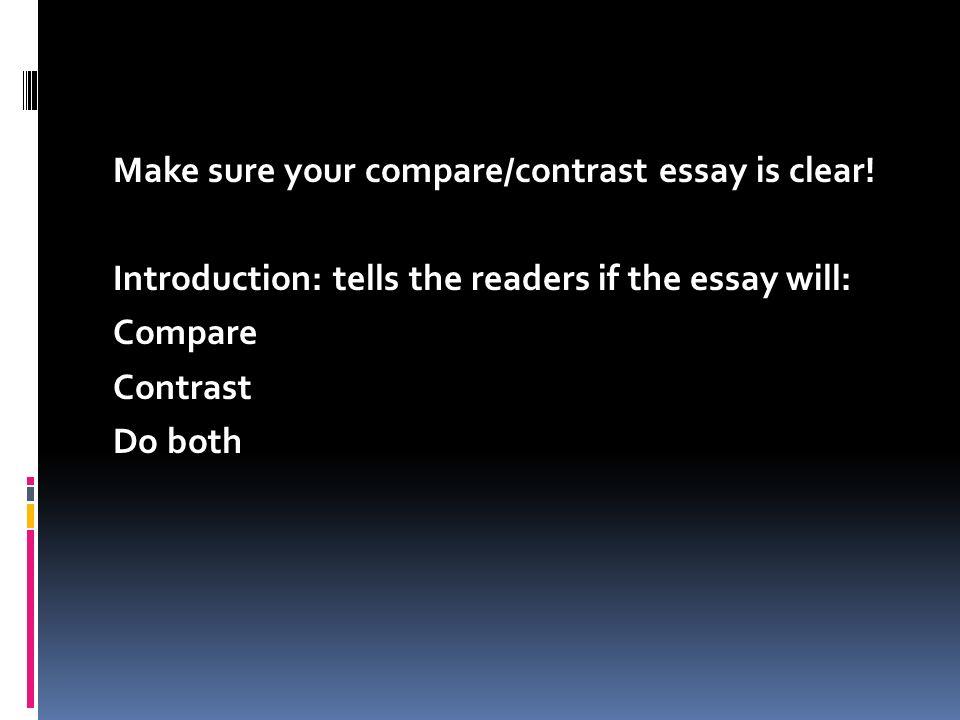 Compare and contrast essay checklist magazine