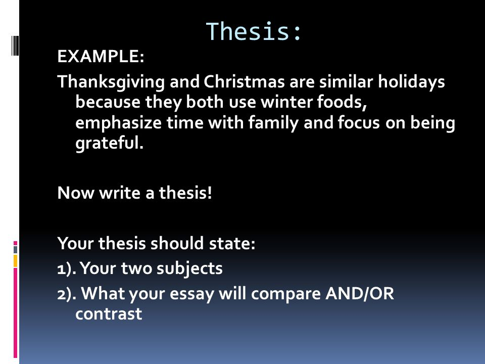 make thesis statement compare contrast paper