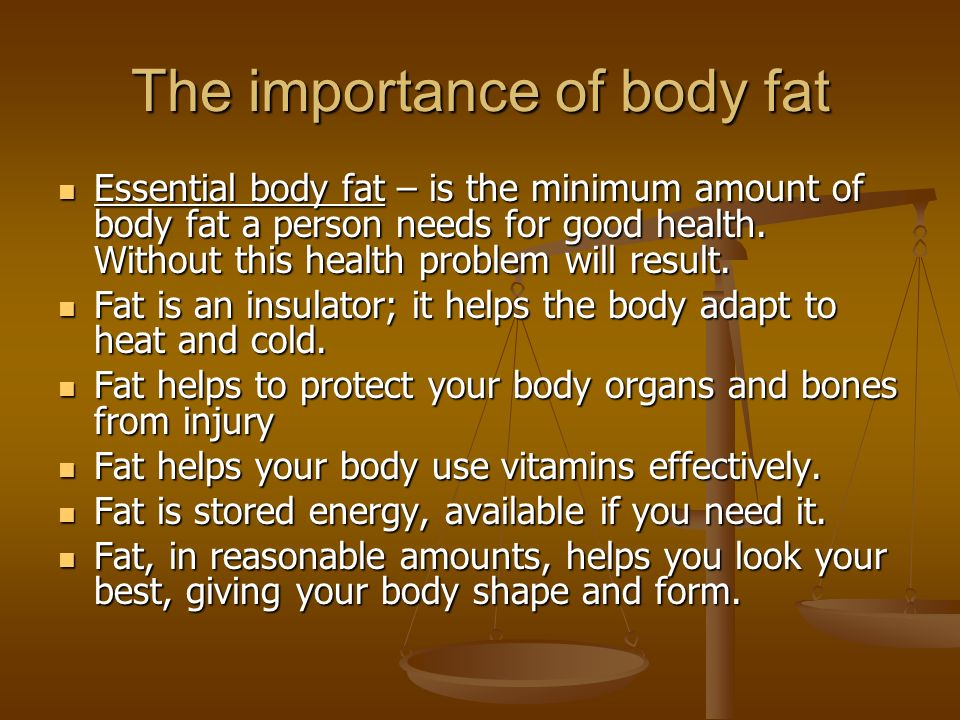 Importance Of Body Fat