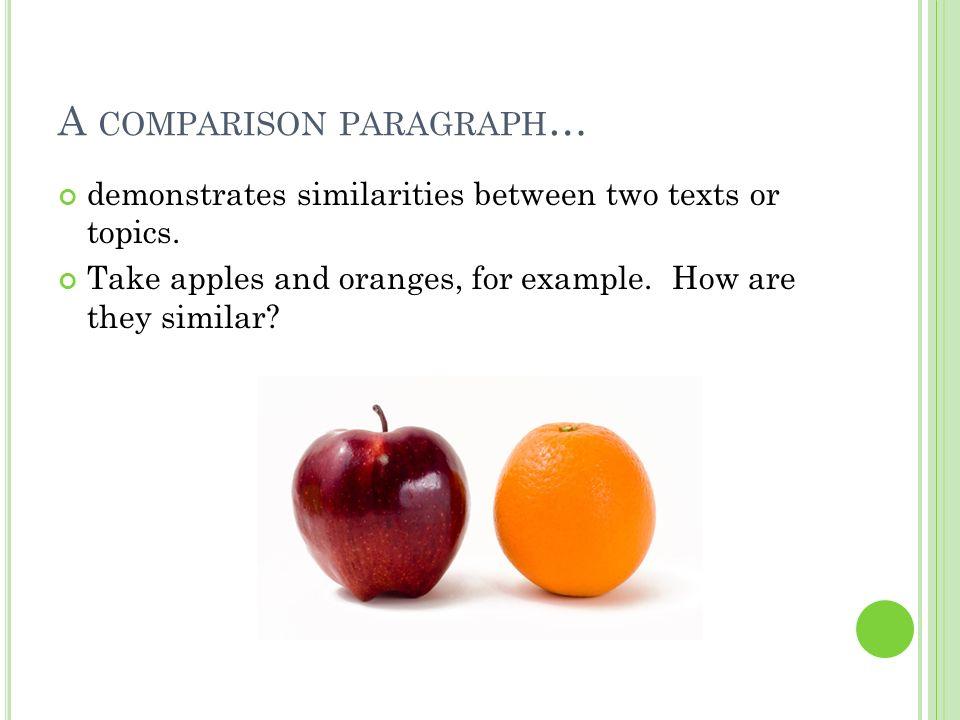 Comparative Essay Topics