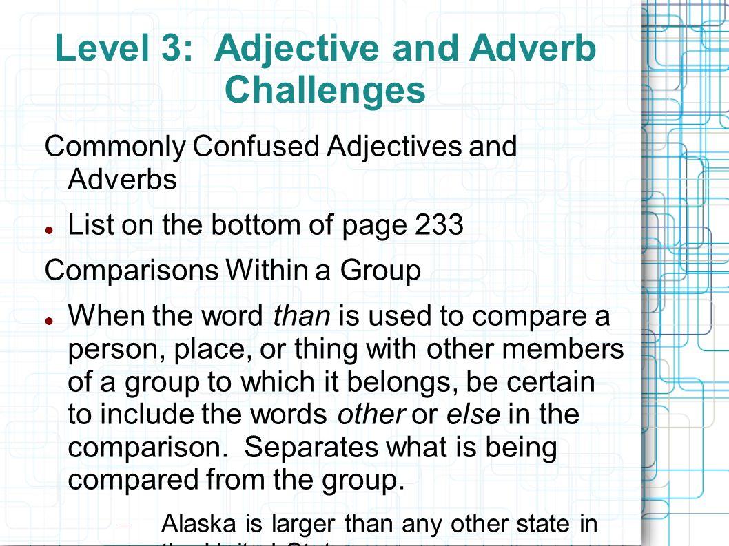 comparison word list