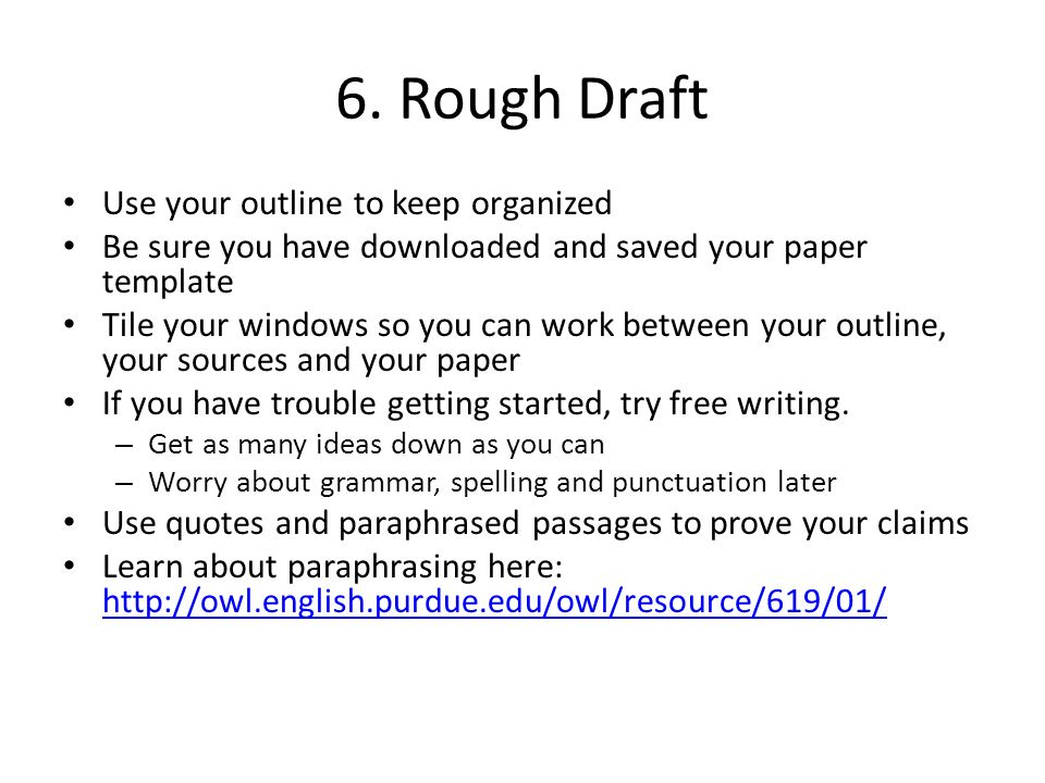 Essay Rough Draft Example