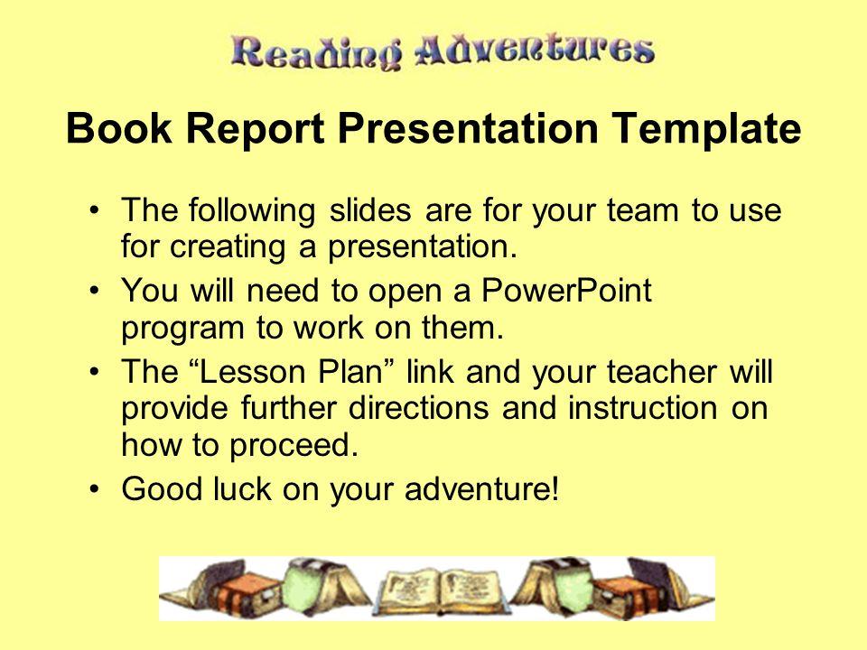 Powerpoint book report template toneelgroepblik Images