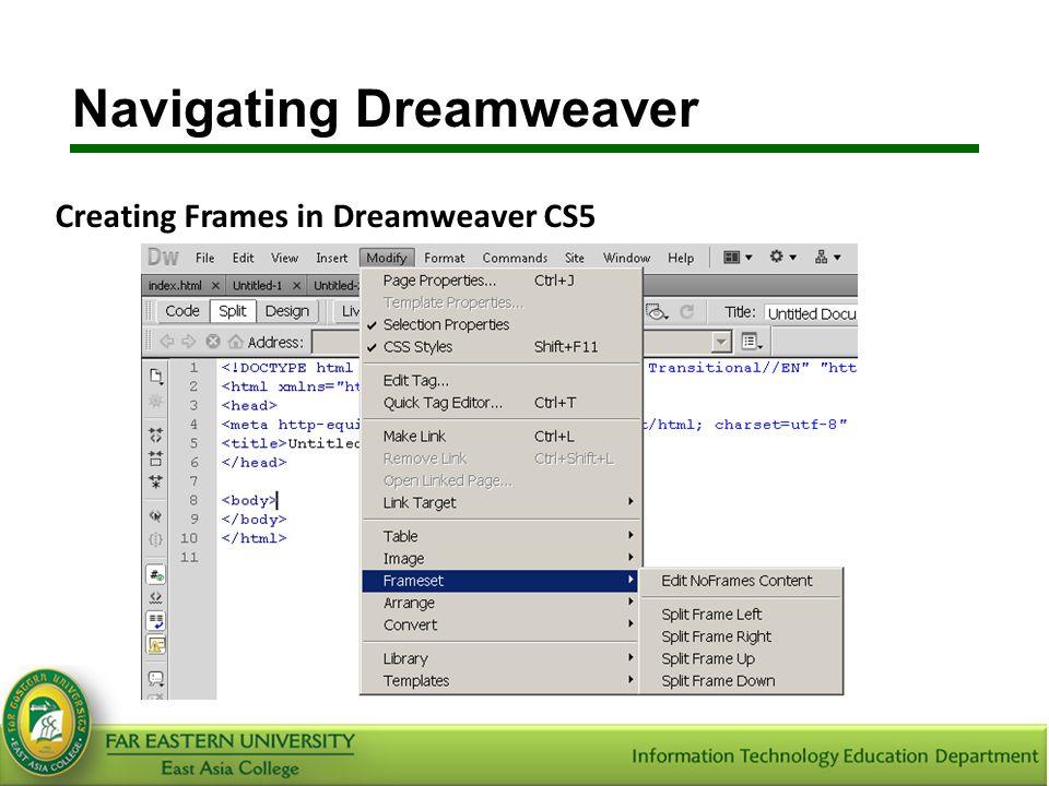 Ziemlich Dreamweaver Cs5 Vorlagen Zeitgenössisch - Beispiel ...