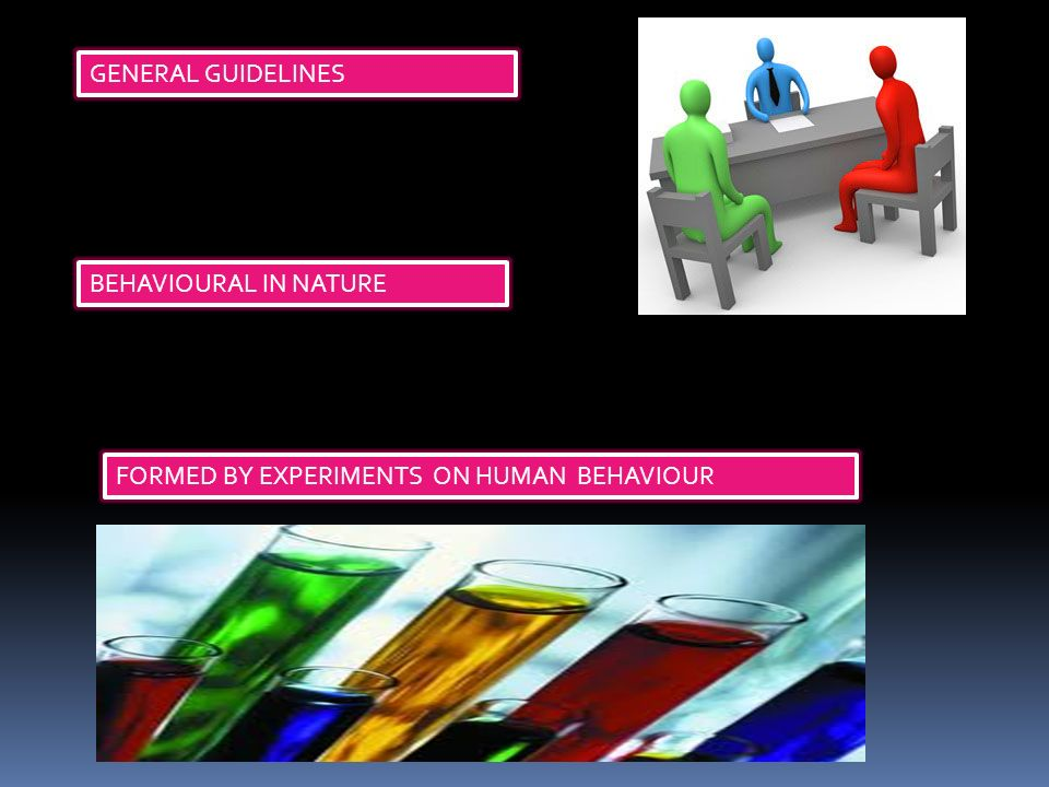 GENERAL GUIDELINES BEHAVIOURAL IN NATURE FORMED BY EXPERIMENTS ON HUMAN BEHAVIOUR