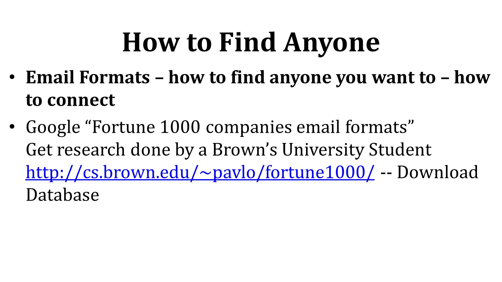 email formats for companies