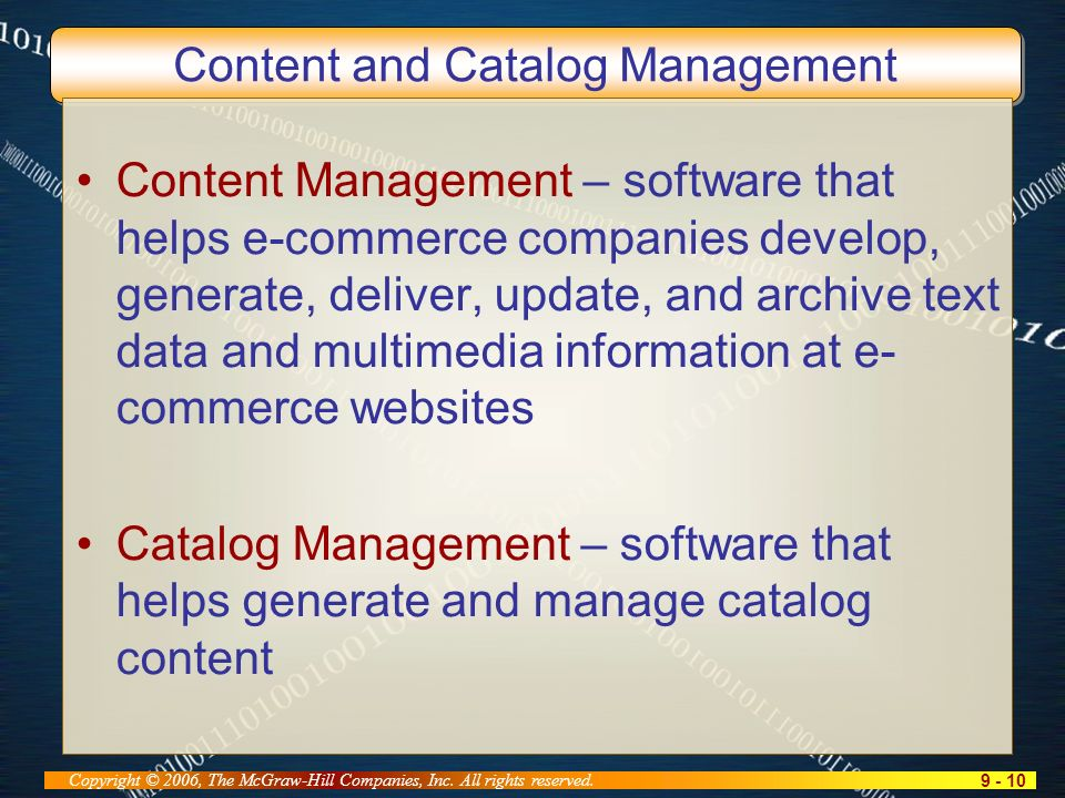9 - 10 Copyright © 2006, The McGraw-Hill Companies, Inc.
