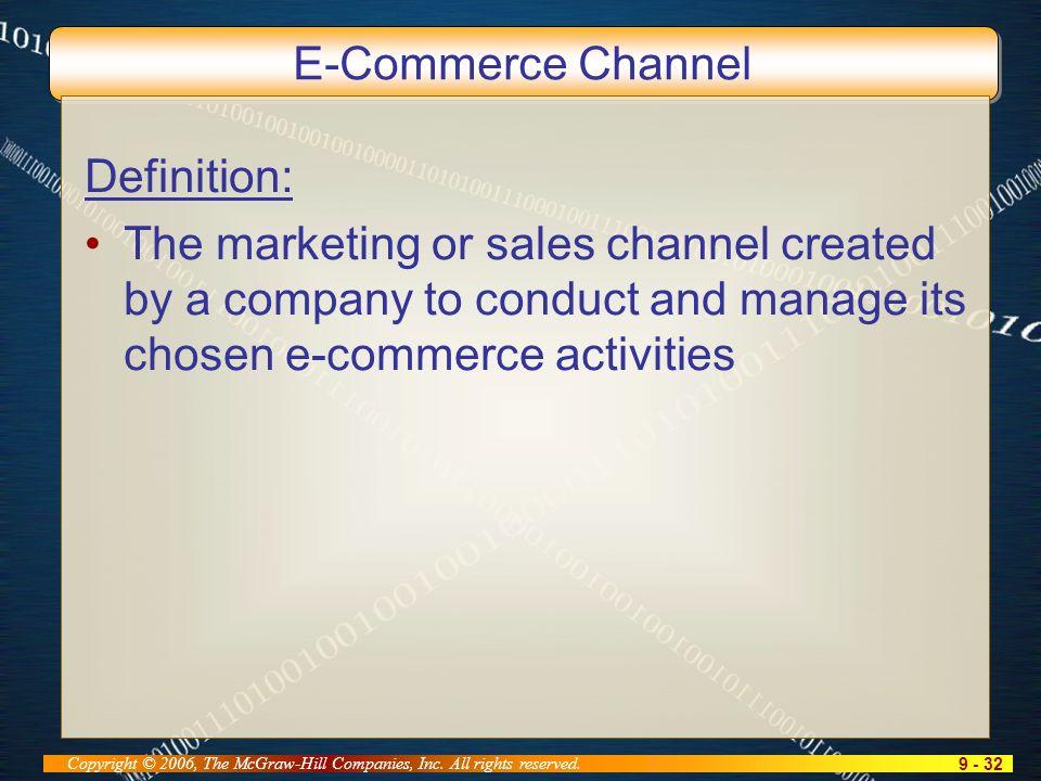 9 - 32 Copyright © 2006, The McGraw-Hill Companies, Inc.