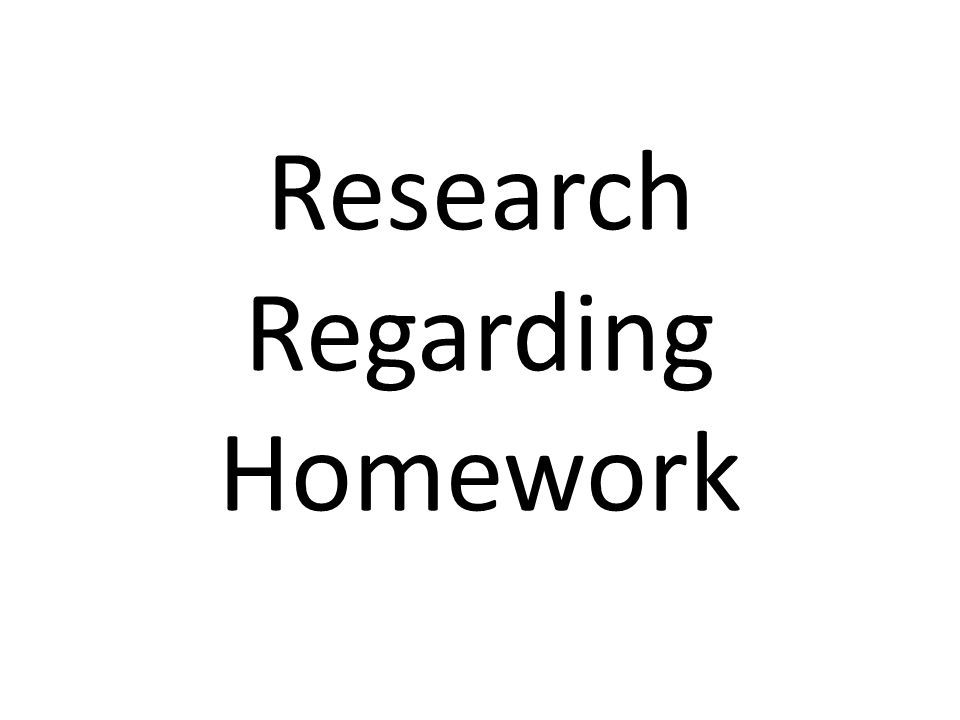 Research about homework