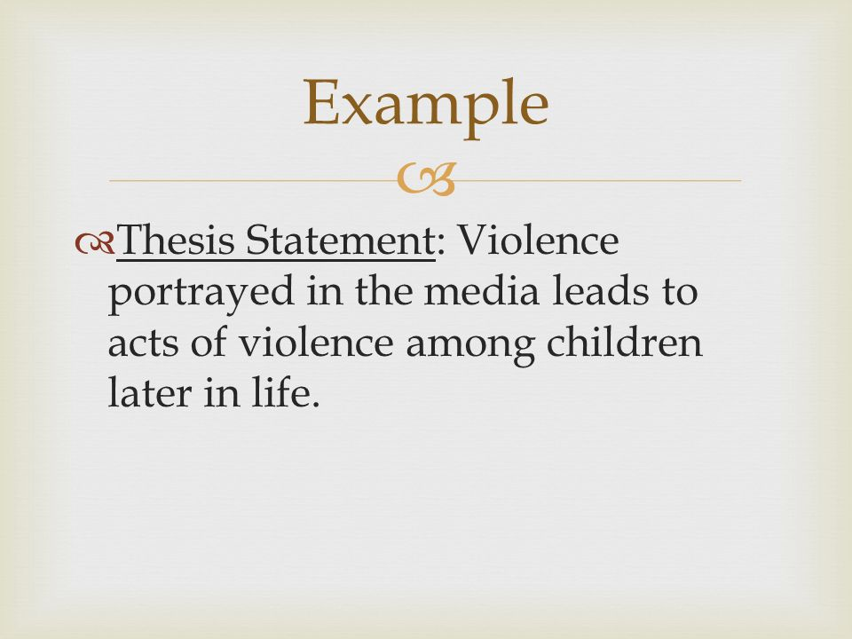 good thesis for media violence Tesis is an excellent college papers for cheap thriller good thesis for media violence about the powerful fascination that surrounds violence and death i am asking the american people to dream big once.