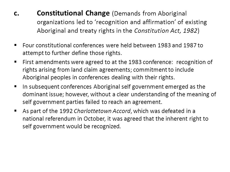 understanding aboriginal form of self government