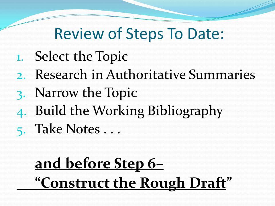 Build bibliography
