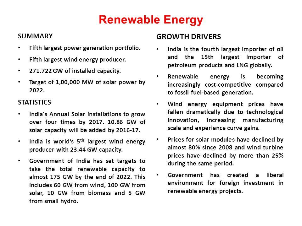 SUMMARY Fifth largest power generation portfolio. Fifth largest wind energy producer.
