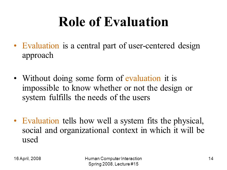 User Interface Evaluation Introduction Lecture # Ppt Download