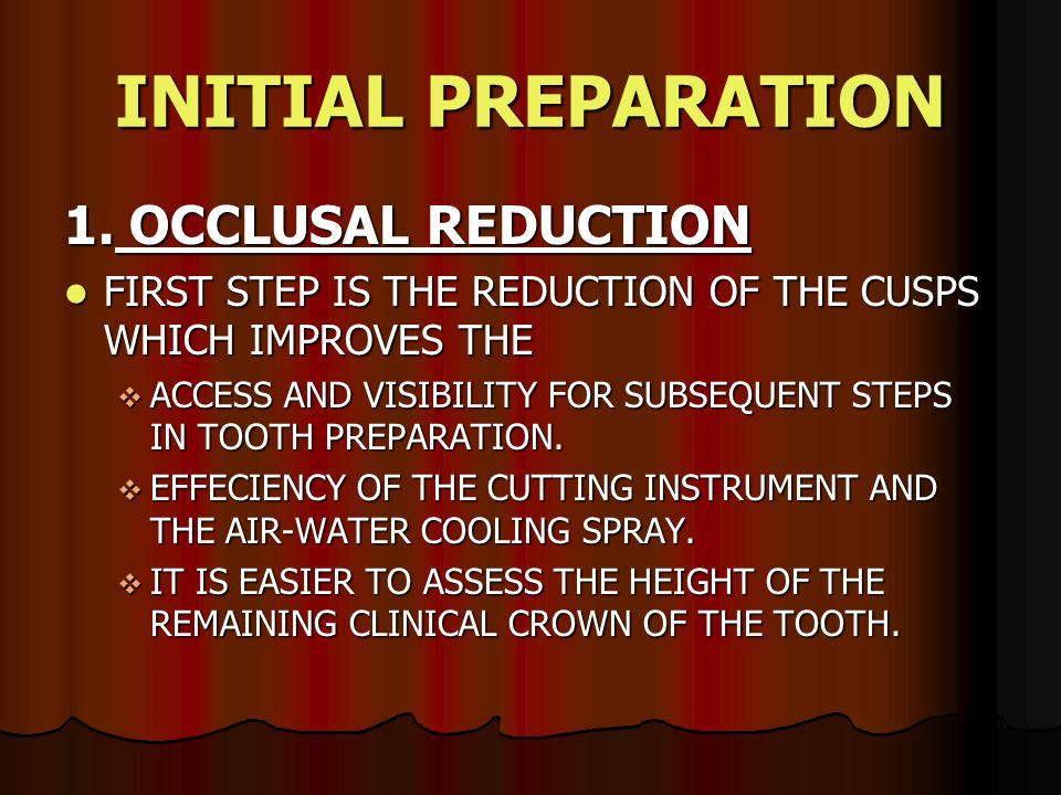 INITIAL PREPARATION 1.
