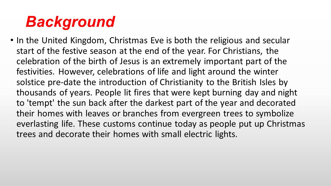 Christmas day in united kingdom by konna ralle when where background in the united kingdom christmas eve is both the religious and secular start of biocorpaavc
