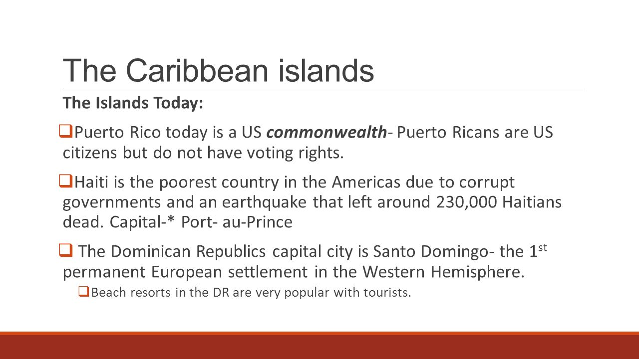 Chapter Section Part THE CARIBBEAN ISLANDS Ppt Download - Poorest caribbean countries