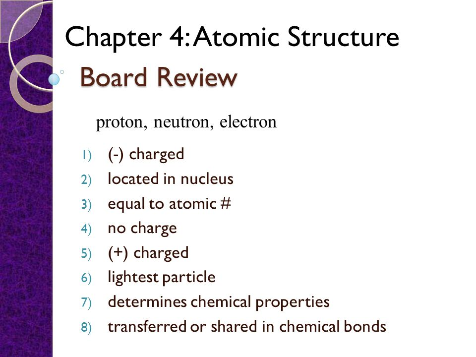 Worksheet chapter 5a atomic structure answers