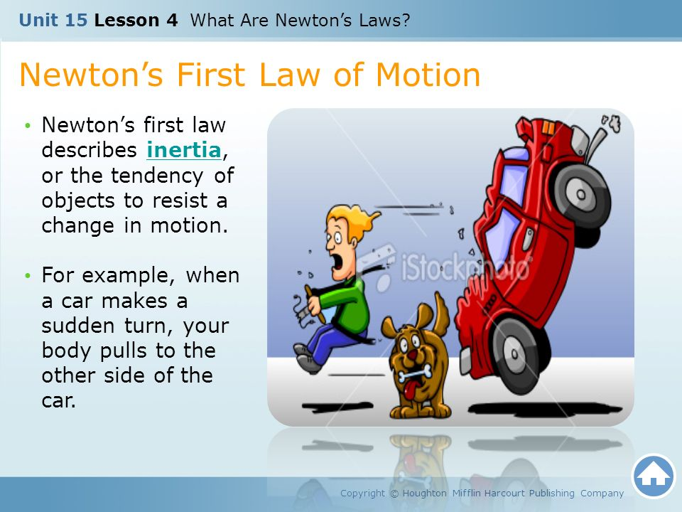 examples of newtons first law