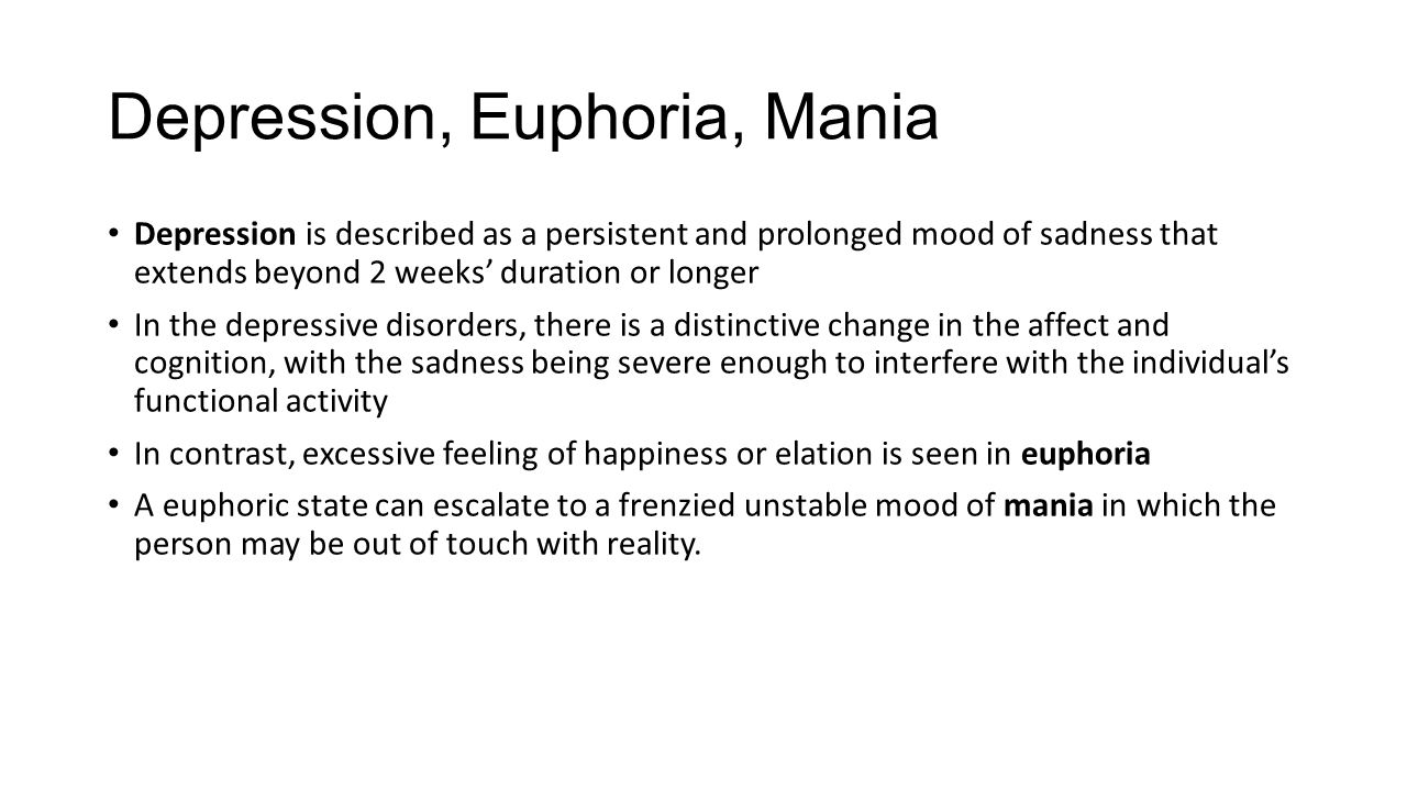 Superb 5 Depression, Euphoria ...