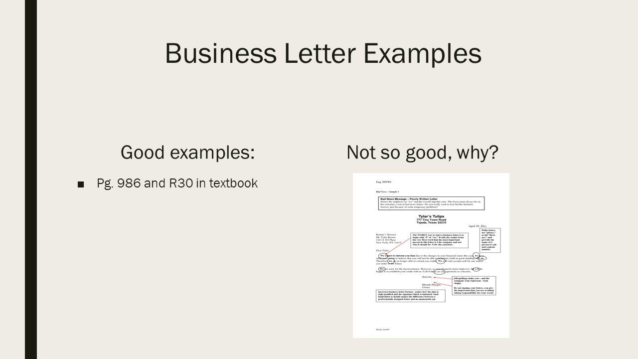 Standard business letters format