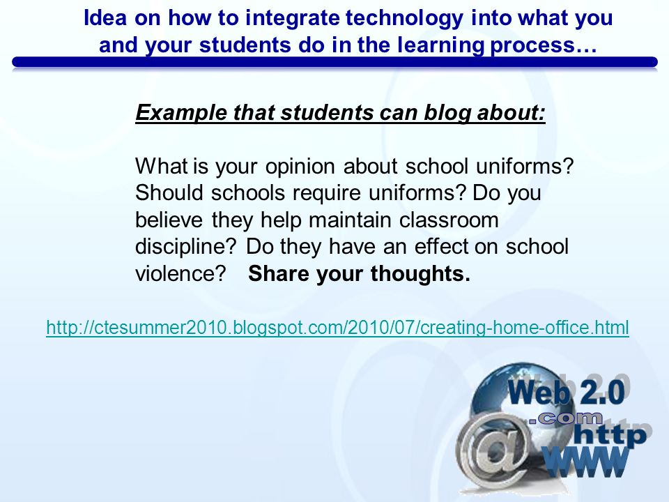 how to integrate technology These lesson plans support standards-based curriculum topics and integrate a technology component within the lesson.