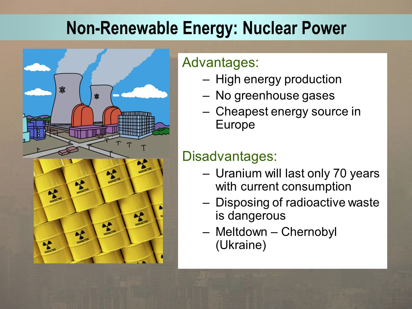 the advantages of using nuclear energy as a source of power Sources of energy: advantages and disadvantages nuclear energy 1 almost limitless source of energy 2 power plants require little land.