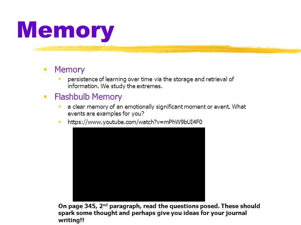 Chapter 9 Memory Memory Persistence Of Learning Over Time Via