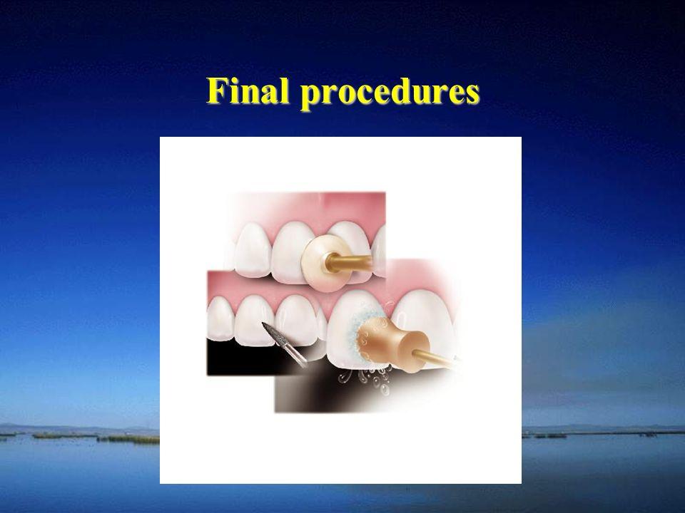 Final procedures