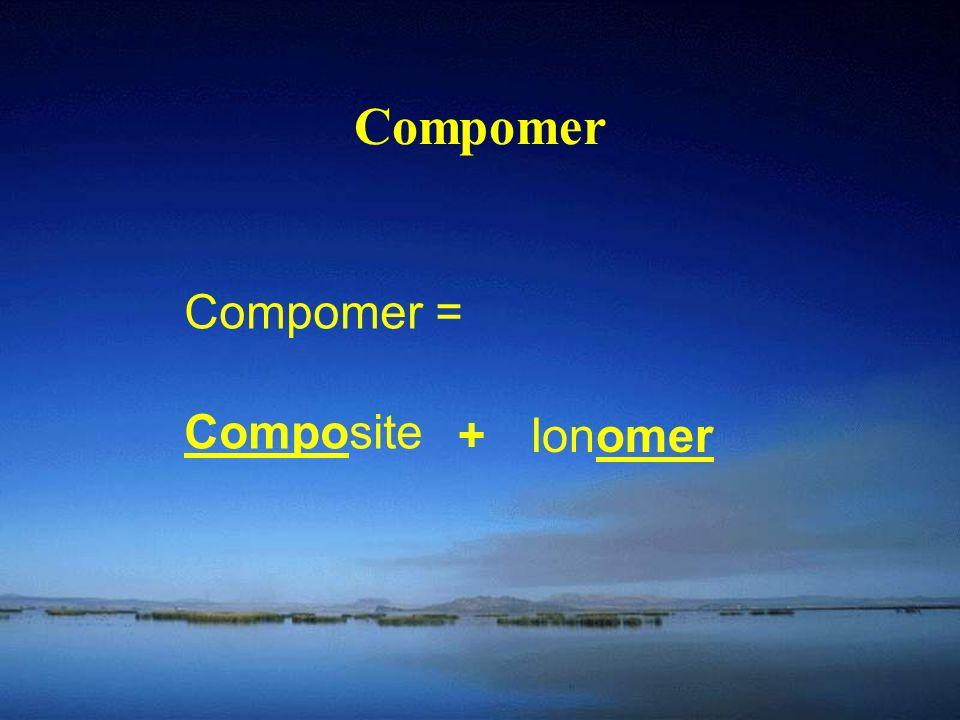 Compomer Compomer = Composite +Ionomer