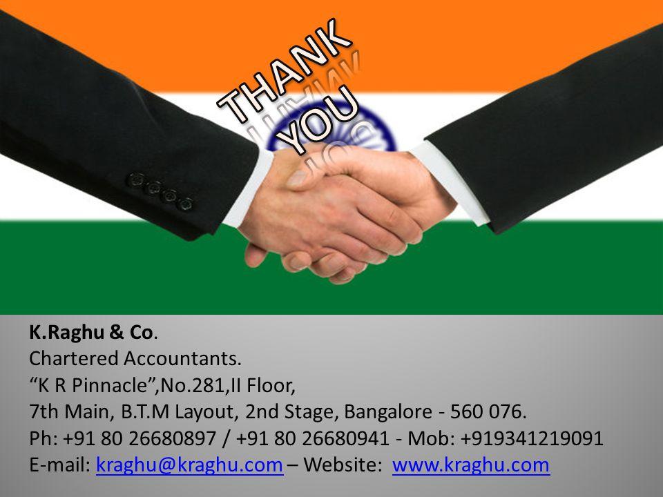 K.Raghu & Co. Chartered Accountants.