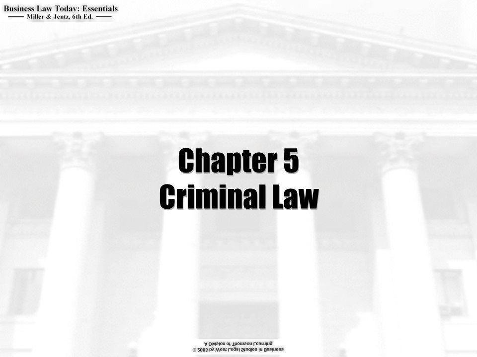 Chapter 5 Criminal Law