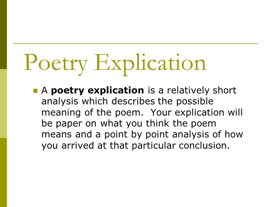 poetry explication a poetry explication is a relatively short  1 poetry explication