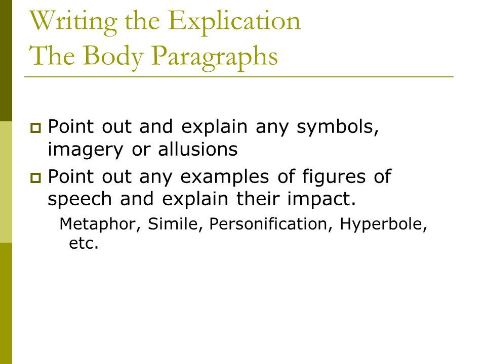 Poem Explication Essay Example