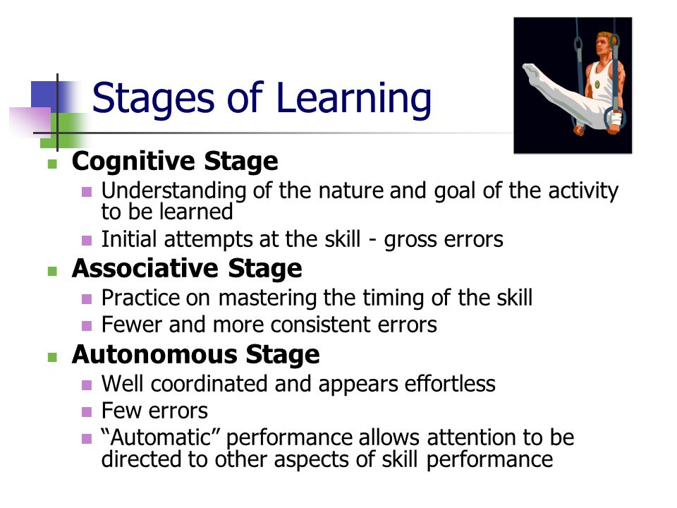 stages of learning skills