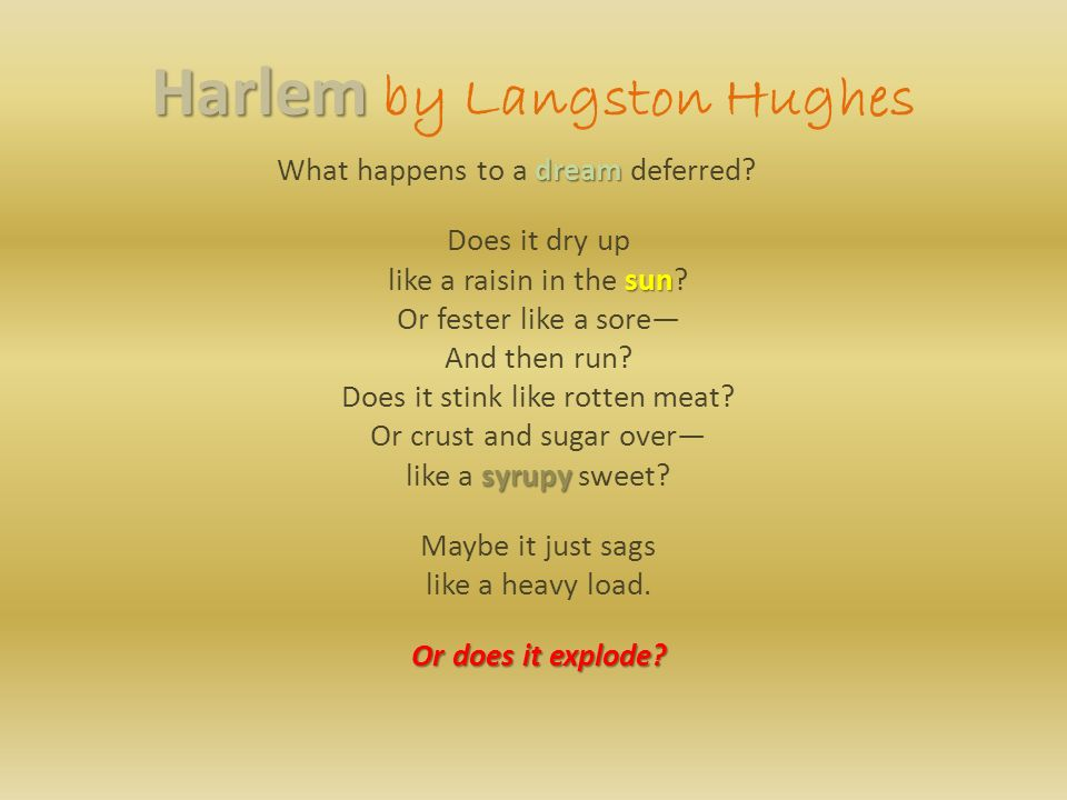 theme for english b and harlem a dream deferred Theme for english b poem by langston hughes the steps from the hill lead down into harlem, through a park this is my page for english b.
