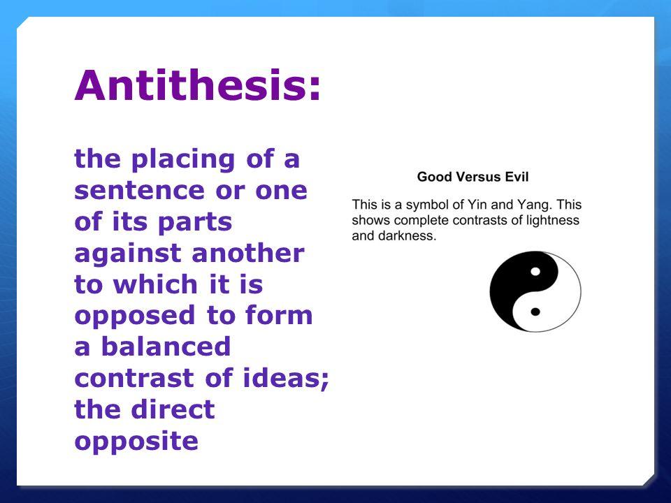 opposite word antithesis