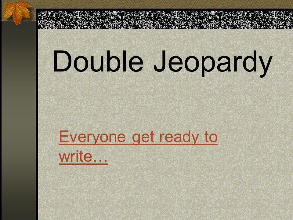 double jeopardy argumentative essay Free and custom essays at essaypediacom take a look at written paper - double jeopardy.