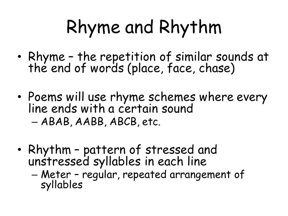 rhyme and rhythm