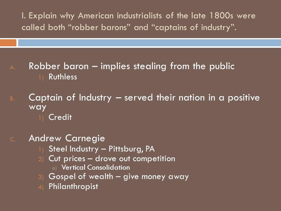 andrew carnegie captain of industry essay